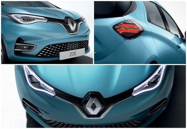新世代Renault Zoe外觀變化幅度不算太多,但換上全新家族化的車頭設計,看起來又更加年輕有型了。(Renault)