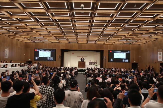 中國嘉德2019春季拍賣會圓滿收官, 市場平穩有序,藏家對作品的挑選十分理智和用心,總成交額18.3億元。