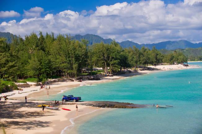 歐胡島的凱魯亞海灘舉世第一美。(Getty Images)