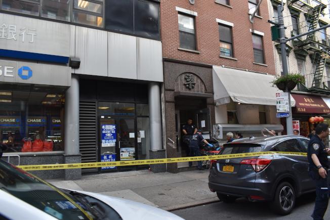 勿街76號發生保險櫃當場砸死人意外。(記者顏嘉瑩/攝影)