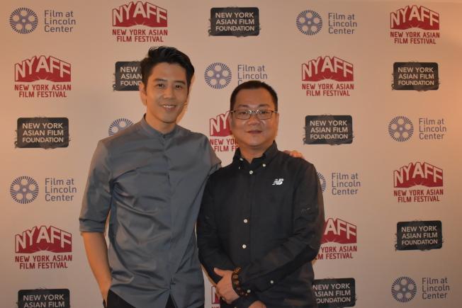 黃朝亮(右)和胡宇威參加電影首映,並出席映後座談。(記者顏嘉瑩/攝影)