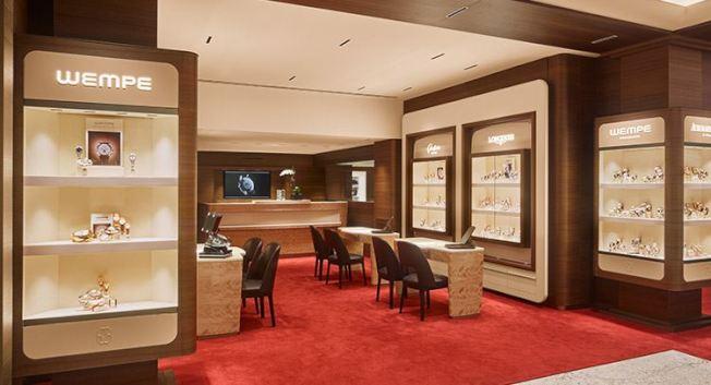 位於曼哈頓第五大道Rolex Building勞力士大樓的Wempe精品錶店。