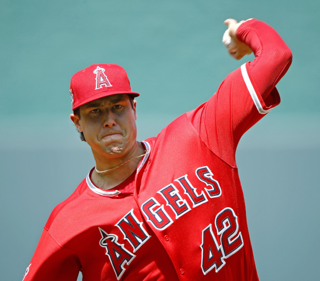 美國職棒洛杉磯天使隊投手史凱格斯今天早晨在飯店房間過世,得年27歲。(美聯社)