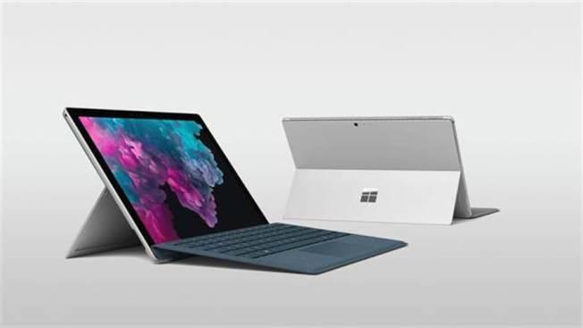 圖為微軟筆電Surface Pro 6。(微軟提供)