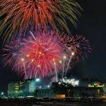 國慶觀焰火 玫瑰碗體育場節目精采