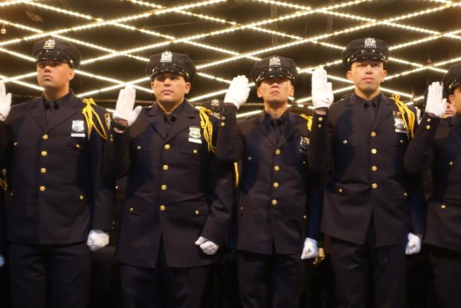 市警學院畢業典禮添425名新警員。(記者金春香/攝影)