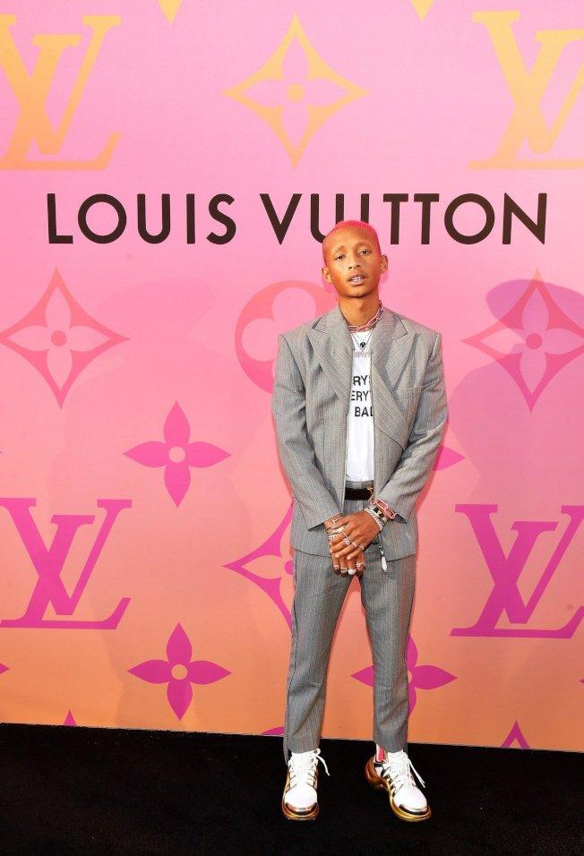 傑登史密斯是LOUIS VUITTON X 聯名展開幕嘉賓。圖/LV提供