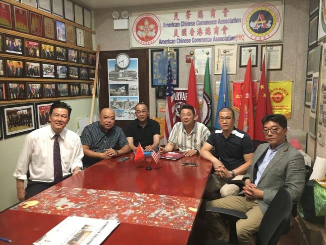 美國香港總商會成員發表聲明。(記者黃伊奕/攝影)