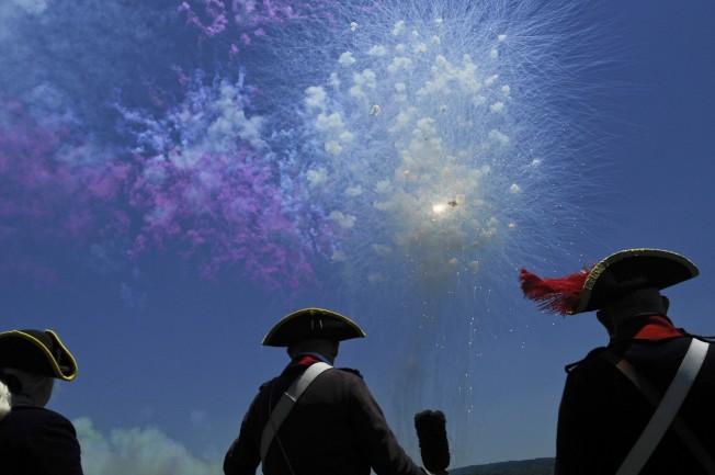 維農山莊將在國慶日放白天煙火表演。(維農山莊提供)