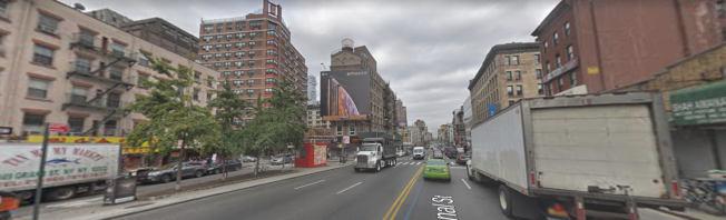 曼哈頓華埠堅尼路沿途,一小時內發生兩起劫案。(取自谷歌地圖)