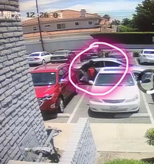 盜賊重返這裡偷走行李箱。(視頻截圖)