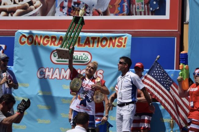 須藤美貴(Miki Sudo)第六次奪得女子組冠軍。(記者顏潔恩/攝影)