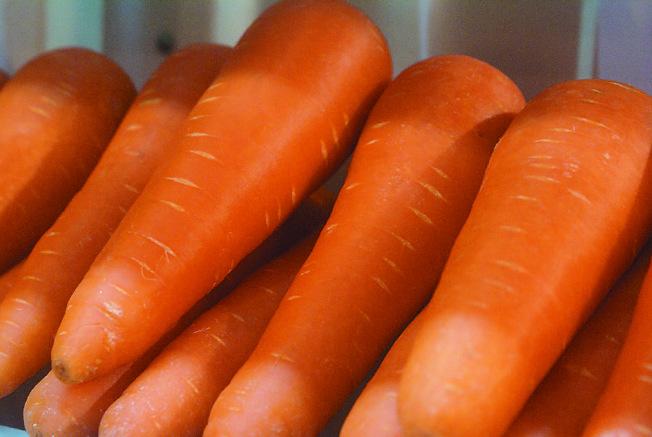 胡蘿蔔富含β-胡蘿蔔素,在體內會轉化為維生素A,對視力、免疫、皮膚等的健康都至為重要。吃烹煮過的胡蘿蔔,更能增加人體吸收β-胡蘿蔔素。(本報資料照片)