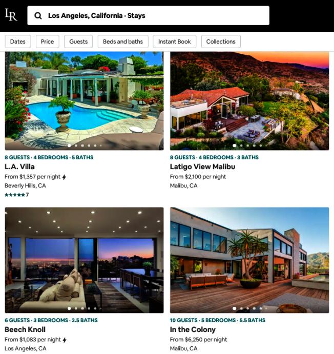 高端短租房網站上不難找到百萬甚至千萬級豪宅的出租信息。(網頁截圖)