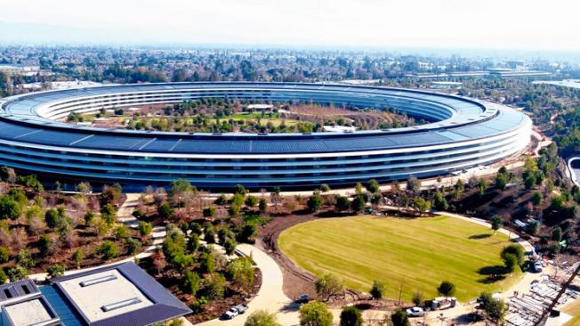 蘋果的太空船總部,2018年落成啟用時,為聖他克拉拉縣的房地產估值增加了15億元。(Getty Images)