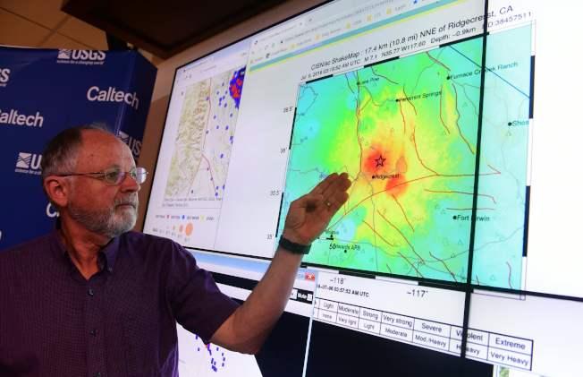 加州理工學院的地質學家指出南加州連續強震的震央十分接近。(Getty Images)