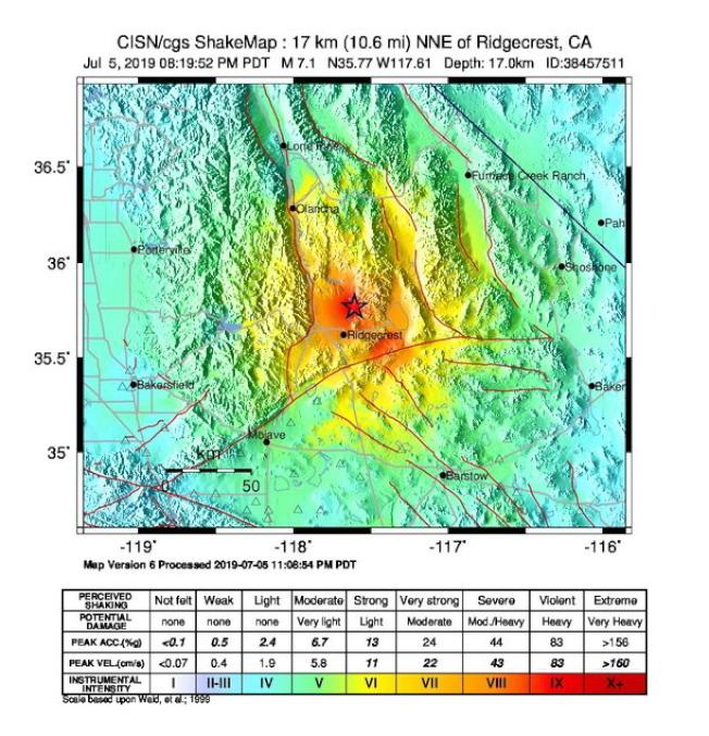 南加州在兩天之內出現兩次大震,引起居民驚恐,專家擔心還會發生更嚴重災害。(歐新社)