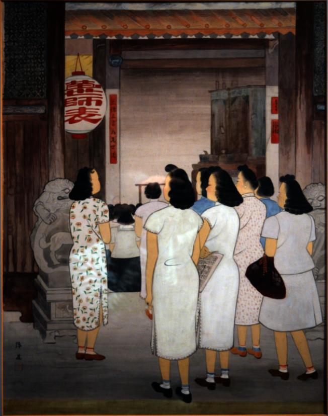 陳進畫作《孔子廟》,1948年。(許振輝/攝影)