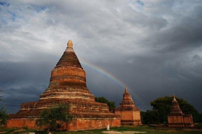 緬甸古城蒲甘(Bagan)。圖╱GettyImages