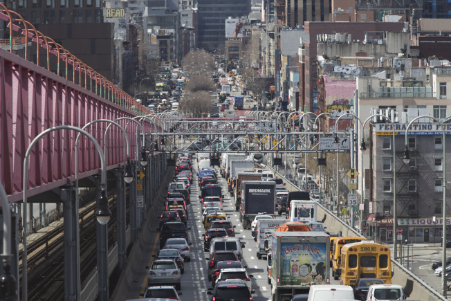 很多紐約市民仍反對徵收堵車費。(美聯社)