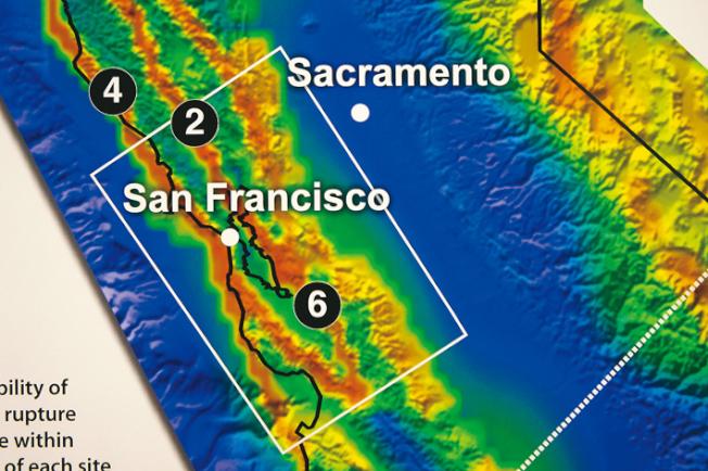 地質調查所表示,舊金山灣區如果發生規模7.1地震,造成的破壞會比南加州這次地震大得多。(Getty Images)