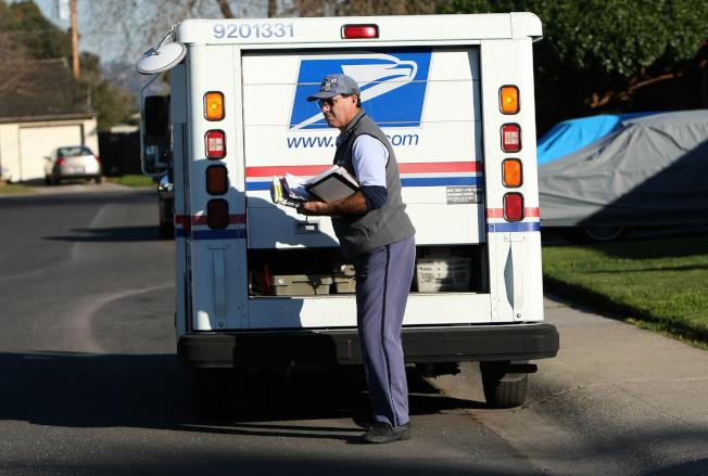 舊金山灣區郵政區十年來首度開放招聘全職郵差。(Getty Images)