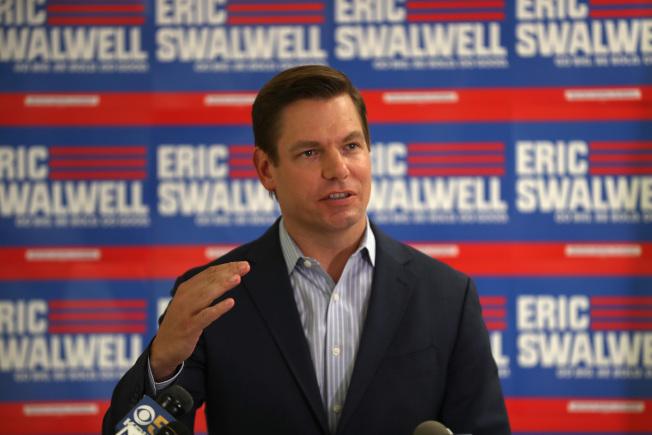 33--東灣聯邦眾議員史瓦爾8日宣布放棄參選統統。(Getty Images)