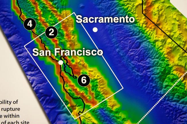 31--地質調查所表示,舊金山灣區如果發生規模7.1地震,造成的破壞會比南加州這次地震大得多。(Getty Images)