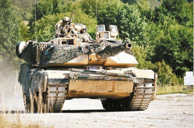 M1A2戰車。圖/翻攝自美國國防部網站
