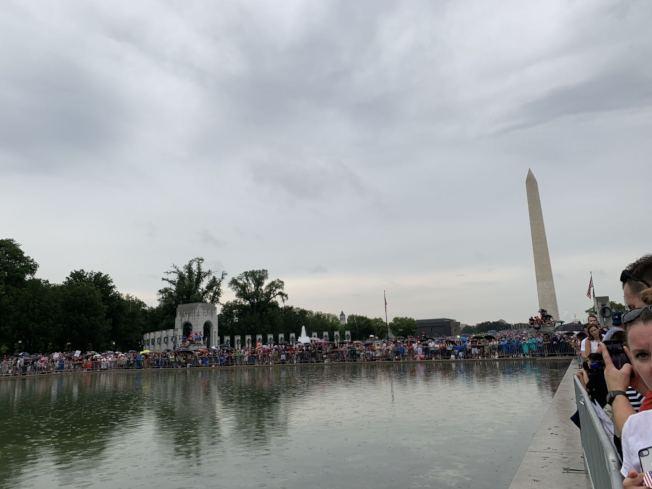 圖為國慶活動當天國家廣場人滿為患。(記者張筠 / 攝影)