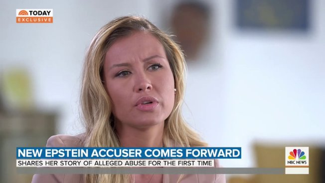珍妮佛‧阿拉羅茲10日出面指控,15歲那年在億萬富豪艾普斯坦的紐約豪宅被他強暴。(NBC截頻)