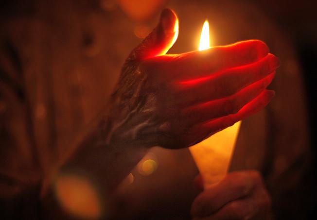 香港年年舉行六四紀念燭光晚會。(美聯社)