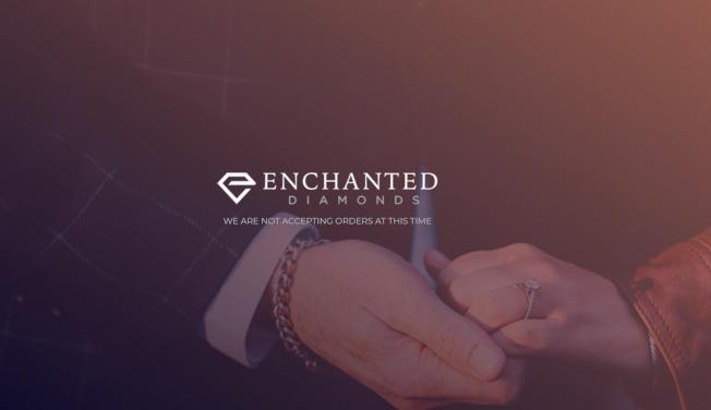 Enchanted Diamonds公司已申請破產保護,該公司網站上寫著「目前不接受訂購」。(該公司官網截圖)