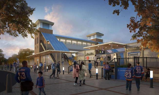 皇后區貝爾羅斯將增設長島鐵路「埃爾蒙特」站點。(州長辦公室提供)