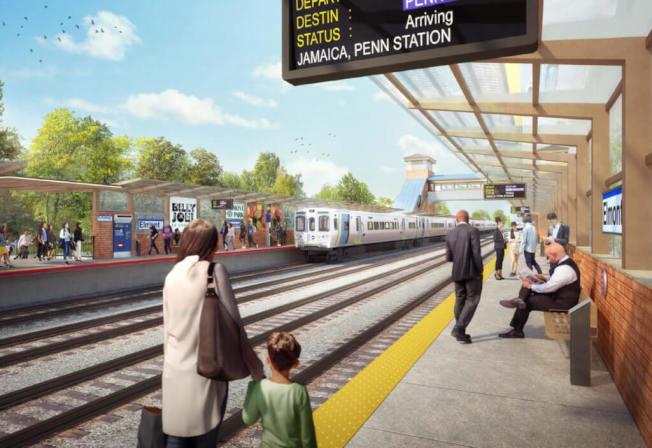 皇后區貝爾羅斯將增設新長島鐵路「埃爾蒙特」站點。(州長辦公室提供)