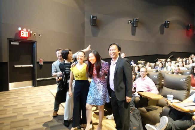 馬泰(左一起)、林曉杰、王子逸、林家珍出席電影放映活動。(記者金春香/攝影)