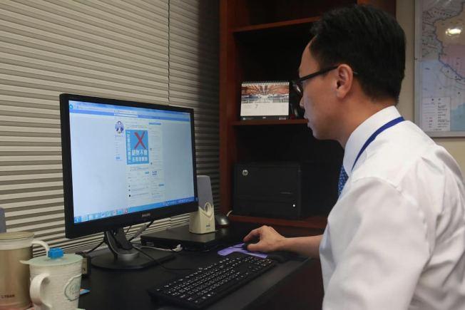 聶德權在FB上載他看澄清「社會信用體系」不會用於香港的帖文。(取材自臉書)
