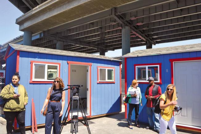 圖為屋崙最近開放的遊民社區小屋。(記者劉先進╱攝影)