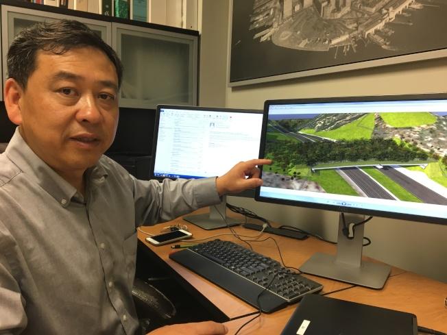 Cal Poly Pomona智能交通專家賈旭東教授。(記者啟鉻/攝影)