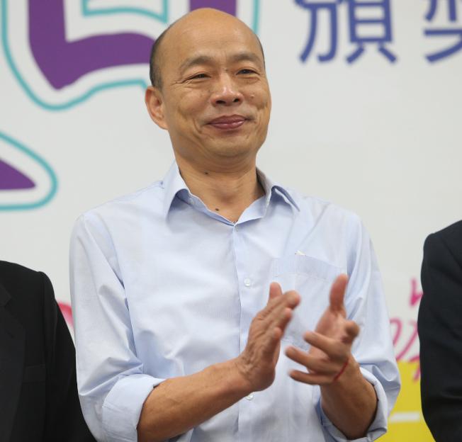 外傳有韓粉計畫在民調公布當天包圍國民黨中央,高雄市長韓國瑜昨呼籲支持者平常心等待結果,千萬不要有過激行為,支持他的人一定要「愛與包容」。(記者劉學聖/攝影)