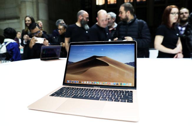 蘋果MacBook Air已更新升級。(路透資料照片)