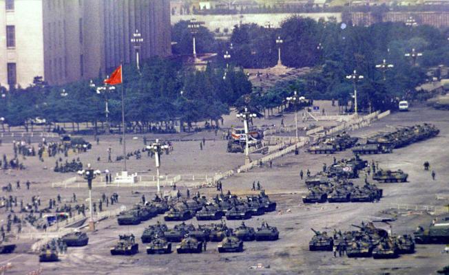 這是6月5日天安門廣場清場後的照片。(美聯社)