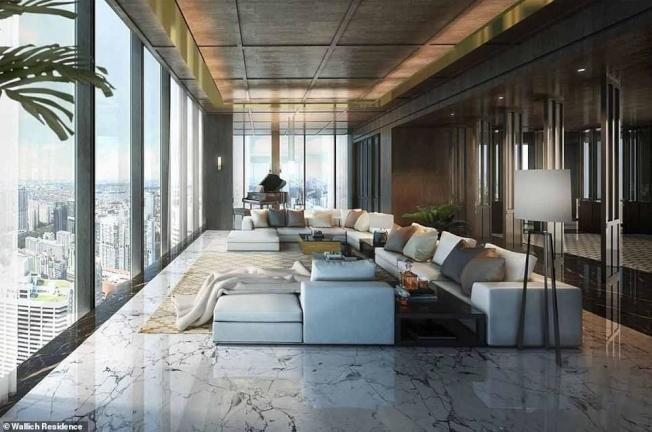 戴森新加坡豪宅景觀與裝潢示意圖。圖/取自網路