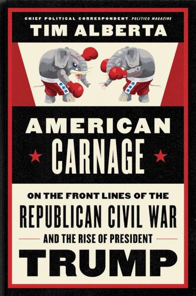 新書《美國大屠殺》揭露川普與共和黨慘烈內鬥的秘辛。(哈潑柯林斯)