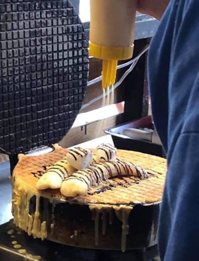 參與罷免高雄市長韓國瑜的香蕉煎餅店「廣德家」。(取材自臉書)