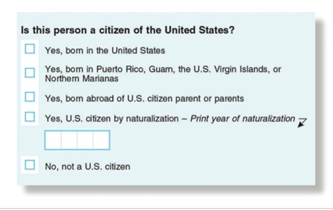 川普原定要在明年人口普查表格上加問填表人的移民身分,現在決定放棄。(檔案照片)