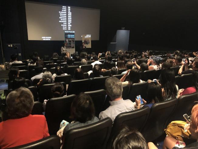 波士頓亞裔電影節舉辦答謝支持者放映會,播放了全亞裔陣容電影「別告訴她(The Farewell)」。(記者劉晨懿之╱攝影)