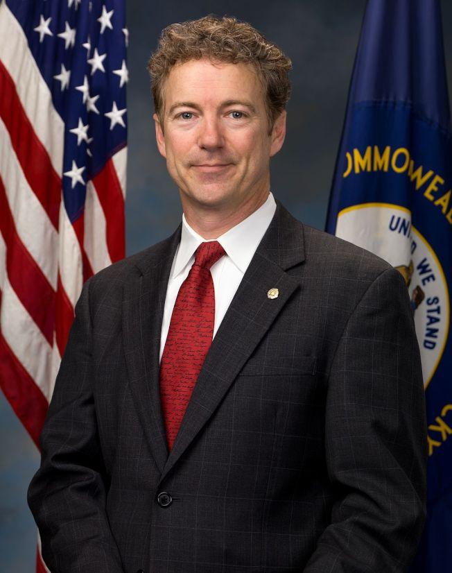 提出新的職業移民法案S-2091的美國參議員保羅(Rand Paul)。(Wikipedia)