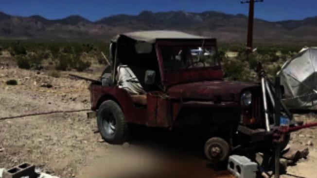 南內華達州百藍坡偏鄉男子,可能地震發生時正在車底下修車而被壓死。(百藍坡警局官網)
