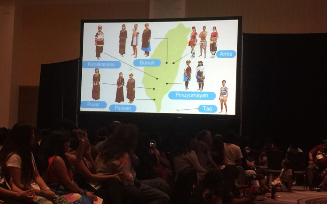 2019 Unity年會的文化展演中,LUMA台灣原住民青年以影片介紹台灣部落。(記者陳文迪/攝影)